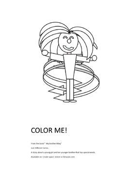 My Brother Riley - Free Coloring Sheet