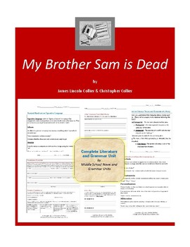 My Brother Sam is Dead Complete Literature and Grammar Unit