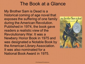 My Brother Sam is Dead PowerPoint
