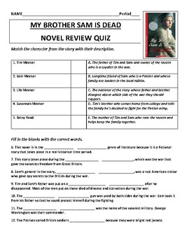 My Brother Sam is Dead Novel Review Quiz
