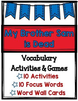 My Brother Sam is Dead Vocabulary Activities & Games (Revolutionary War)