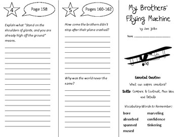 My Brothers' Flying Machine Trifold - Open Court 4th Grade Unit 2 Lesson 3