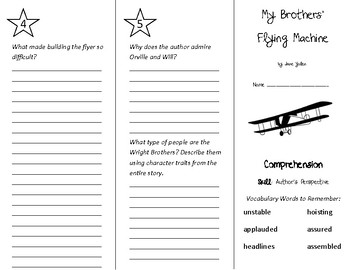 My Brothers' Flying Machine Trifold - Treasures 4th Grade Unit 4 Week 5 (2011)