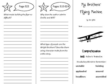 My Brothers' Flying Machine Trifold - Treasures 4th Grade