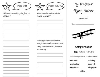 My Brothers' Flying Machine Trifold - Treasures 4th Grade Unit 6 Week 4 (2009)