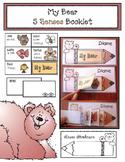 """5 Senses Activities: """"My Brown Bear's 5 Senses"""" Booklet"""