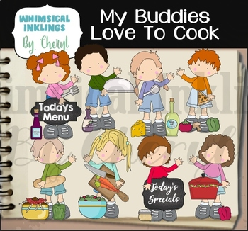 My Buddies Love To Cook Clipart Collection
