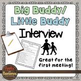 My Buddy Interview - Big Buddy/Little Buddy Activity FREEBIE