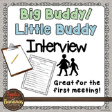 My Buddy Interview - Big Buddy/Little Buddy Activity FREEBIE