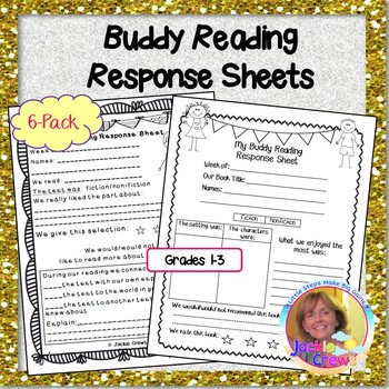 Buddy Reading Response Sheets 6-Pack