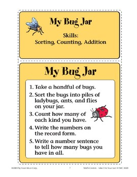 My Bug Jar (Sorting and Counting Insect Pictures)