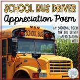 My Bus Driver! Original Poem/Note for Bus Driver Appreciation Week/Day!