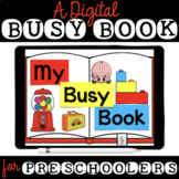 My Busy Book - Speech Therapy Boom Cards for Preschool Skills