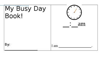 My Busy Day Book