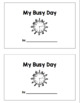 My Busy Day Clock Booklet - ENGLISH AND SPANISH