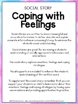My Coping with Feelings Book - Social Story and Activities