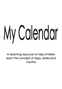 My Calendar - Autism, Special Needs