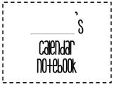 My Calendar Notebook