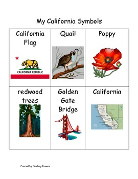 My California Symbols Words