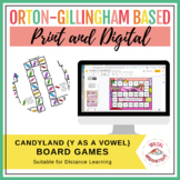 My Candy! (a y as a vowel board game activity) Orton-Gillingham Inspired