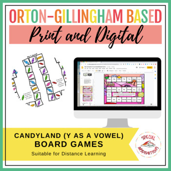 My Candy! (a y as a vowel board game activity) Orton-Gilli