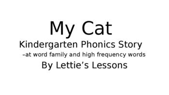My Cat  Phonics Reader Set Kindergarten through Second Grade Level