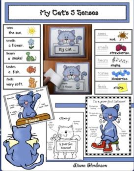 "5 Senses Activities With a Cat Theme: ""My Cat's 5 Senses"""