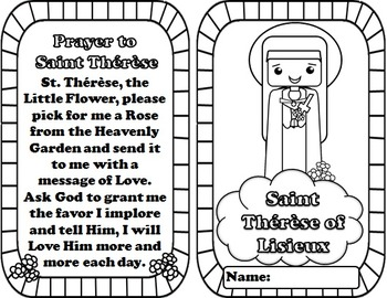 My Catholic Mini Saint Book - Saint Therese of Lisieux