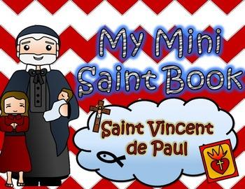 My Catholic Mini Saint Book - Saint Vincent de Paul