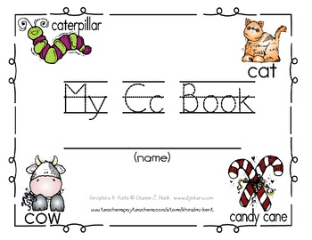My Cc Book {letter study / sight words it & is}