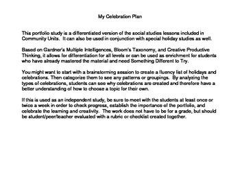My Celebration Plan