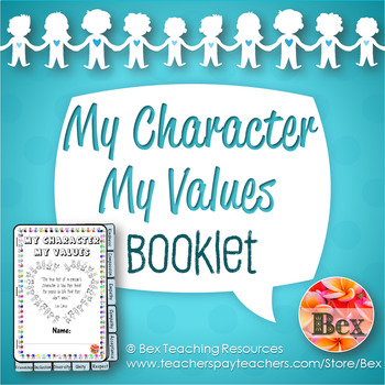 My Character, My Values Booklet