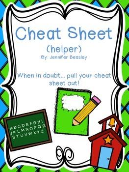 My Cheat Sheet (My Helper)