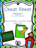 My Cheat Sheet (My Helper)
