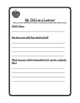 My Child As A Learner