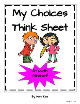 Growth Mindset Think Sheet