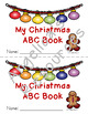 Christmas Activities : My Christmas ABC Book - Tracing - Coloring