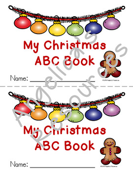 christmas activities christmas abc book fine motor skills coloring. Black Bedroom Furniture Sets. Home Design Ideas