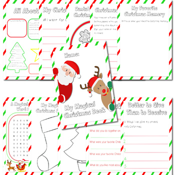 My Christmas Activity Book - Black and White