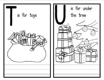My Christmas Alphabet Book - Love this! (Flashcards)