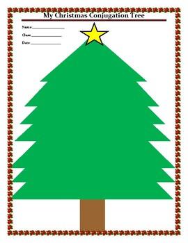 My Christmas Conjugation Tree