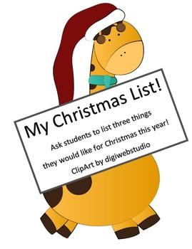 My Christmas List!
