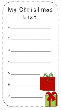 My Christmas List *Free*