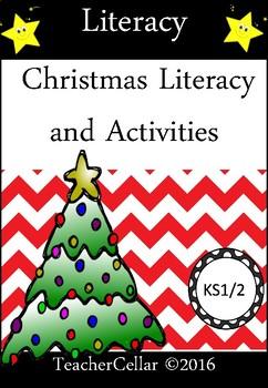 My Christmas Literacy Activity Book By Teacher Cellar Tpt