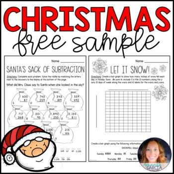 My Christmas Math Packet FREE Sample