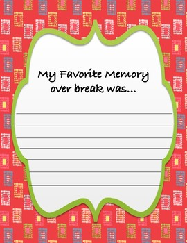 My After Christmas Break Memory Book
