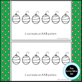 Preschool and Kindergarten Christmas Patterns Book