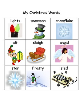 My Christmas & Winter Words