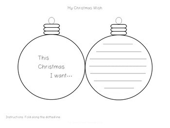 My Christmas Wish Bauble