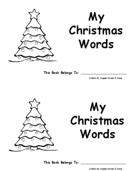 My Christmas Words Book (vocabulary)